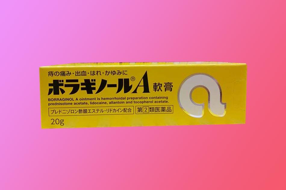 Hình ảnh hộp Thuốc bôi trĩ chữ A của Nhật